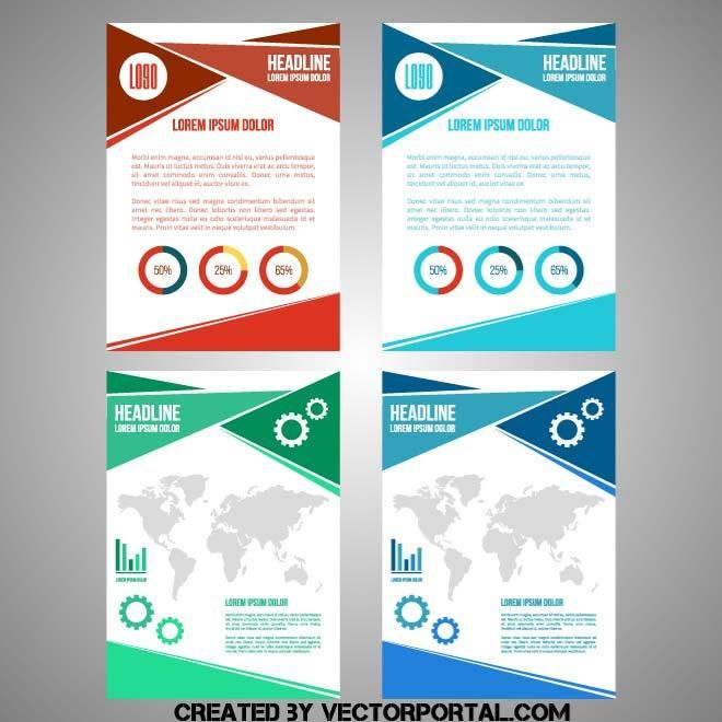 Document layout design in vector format.