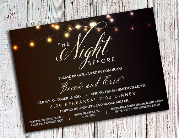 Rehearsal Dinner Invitations  Party Invitations with by ArtsyNikki