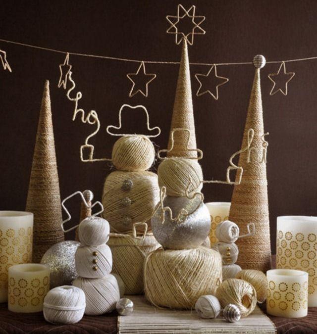 Как сделать новогодний декор из проволоки и веревки