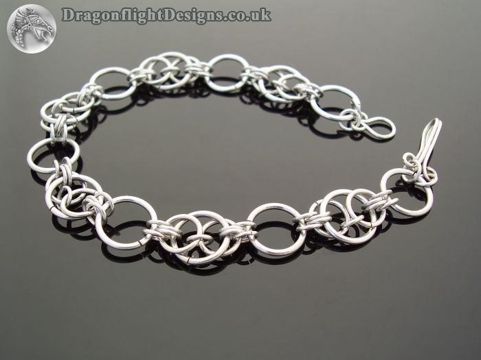 Free+Chainmail+Patterns+Chainmaille | Handfast Weave Chainmaille Bracelet £10.00