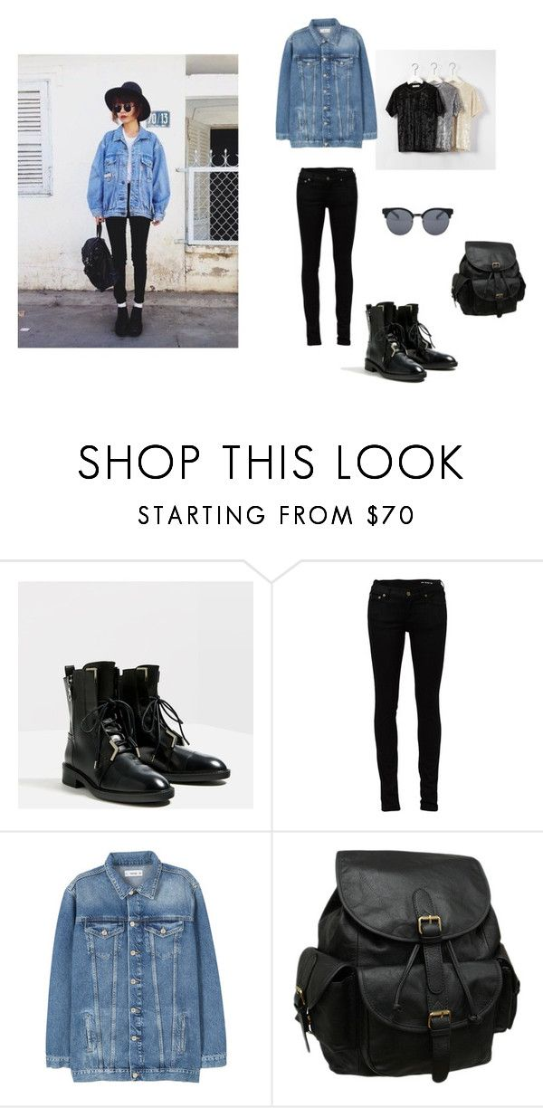"""Untitled #3"" by baloghandrea on Polyvore featuring Yves Saint Laurent, MANGO, AmeriLeather and Quay"