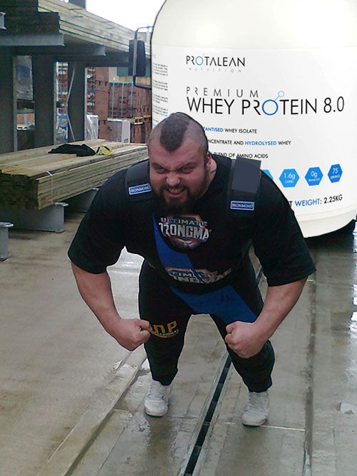 Eddie Hall strongman training....
