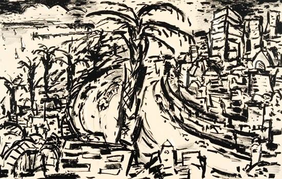 The Esplanade St Kilda - Craig Gough Lithograph 1997 50 x 32 cm $880.00 Available at www.cascadeprintroom.com.au
