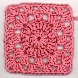 Precious Pink Squircle   AllFreeCrochetAfghanPatterns.com
