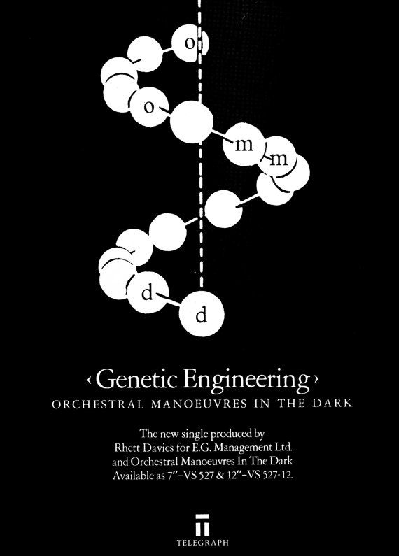 omd genetic engineering  poster van JustMemorabilia op Etsy, $7.99
