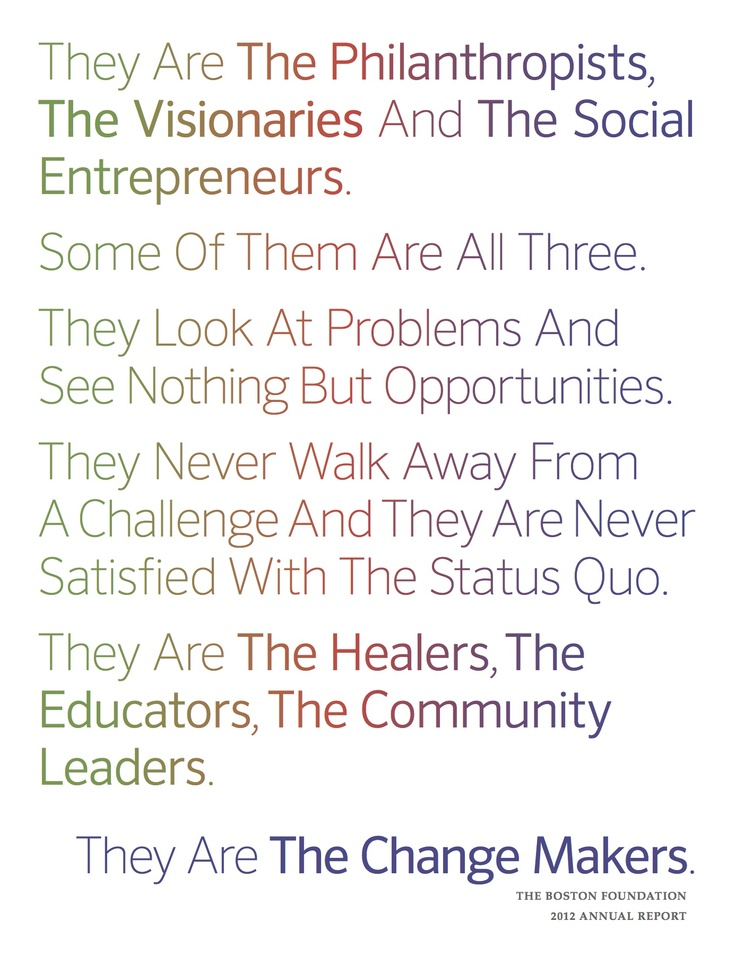 2012: The Change Makers