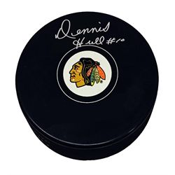 Hull,D Signed Puck Blackhawks