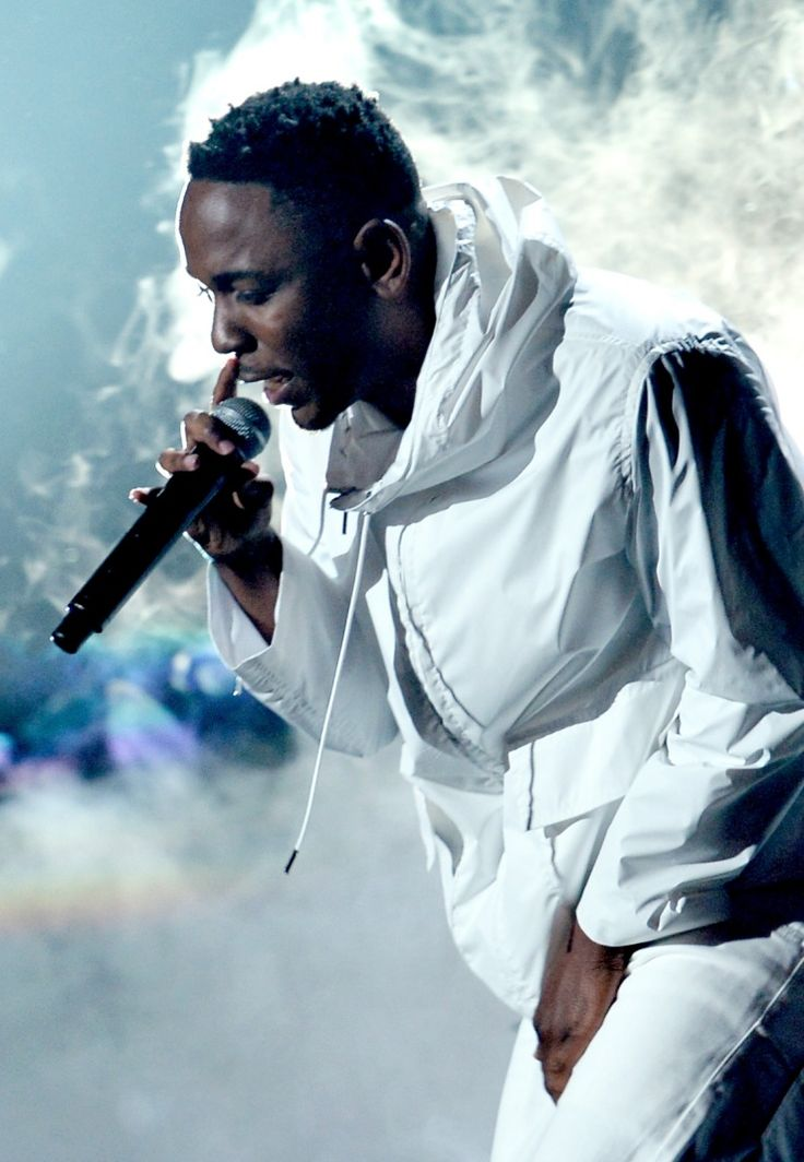 Kendrick Lamar performs on the 56th Annual GRAMMY Awards on Jan. 26 in Los Angeles