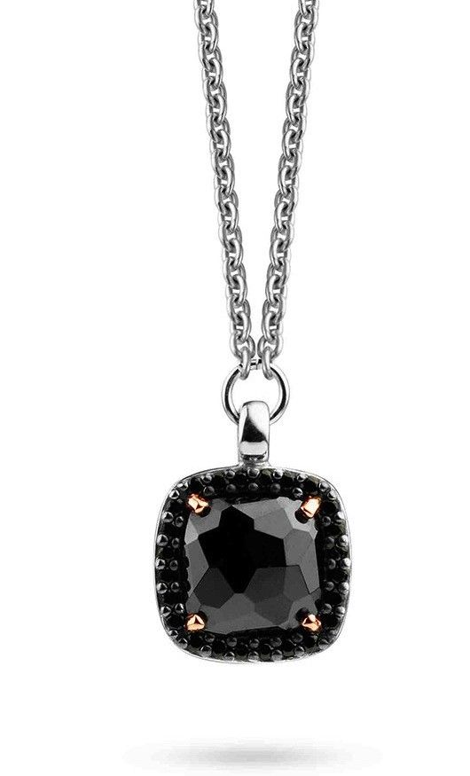 Ti Sento Sterling Silver Onyx Gilded Pendant 3792BR/42 @ Campbell Jewellers Donnybrook & Citywest http://campbelljewellers.com/jewellery/ti-sento-campbell-jewellers/ti-sento-pendants-chains/ti-sento-pendants/ti-sento-sterling-silver-onyx-gilded-pendant.html