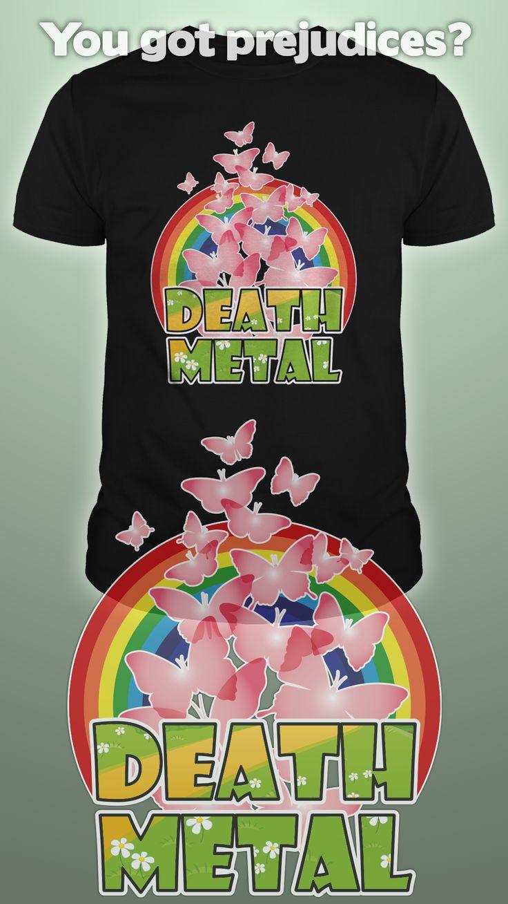 Design by Dare Wear :  Death Metal Butterflies  #tshirts #fashion #unique #deathmetal #metal #rock #music #butterflies #cute
