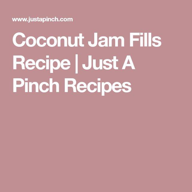 Coconut Jam Fills Recipe | Just A Pinch Recipes