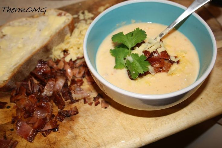 Cauliflower, Cheese and Bacon Soup - ThermOMG
