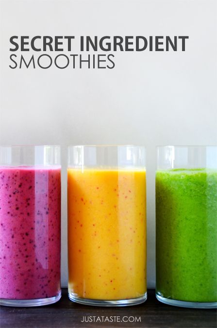 Secret Ingredient Smoothies #recipe #healthy
