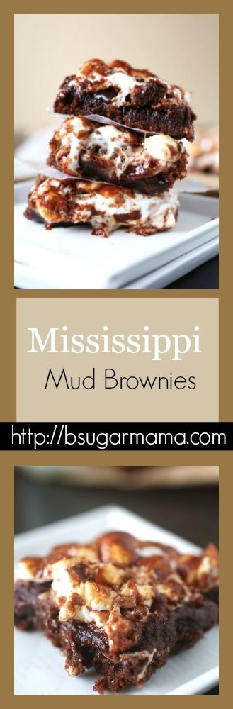 Mississippi Mud Brownies #chocolate #brownies #dessert
