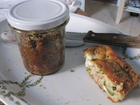 Zucchini-Schafskäse-Kuchen aus dem Glas