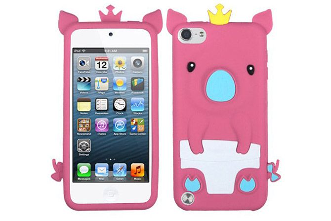 Cute Animal 3D Pig Flexible Soft Silicone Rubber Cases for iPod touch 5th Gen | Lagoo Tech