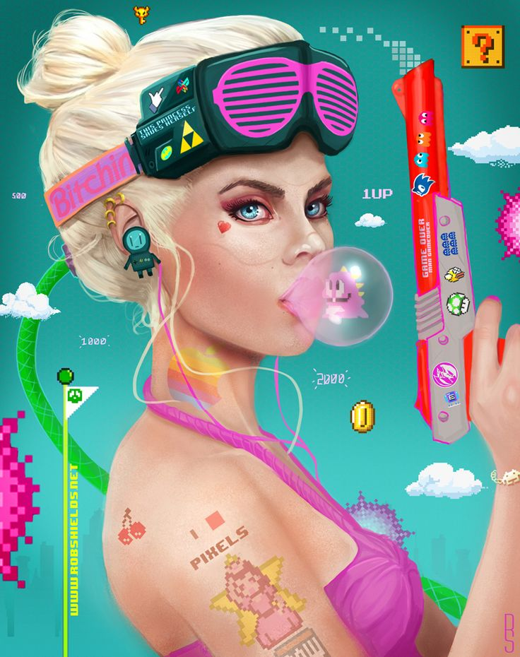 Gamer Girl by RobShields.deviantart.com on @DeviantArt