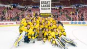 The Michigan hockey team beat Michigan State (December 29, 2014) and won the 16th Great Lakes Invitational Title.