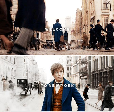 From The Fantastic Beasts and Where To Find Them NEW trailer - First trip to America? Yes.