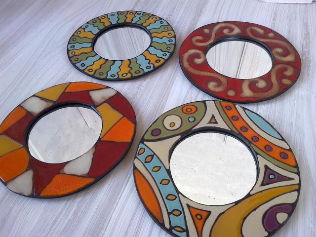 Espejos circulares en tonos