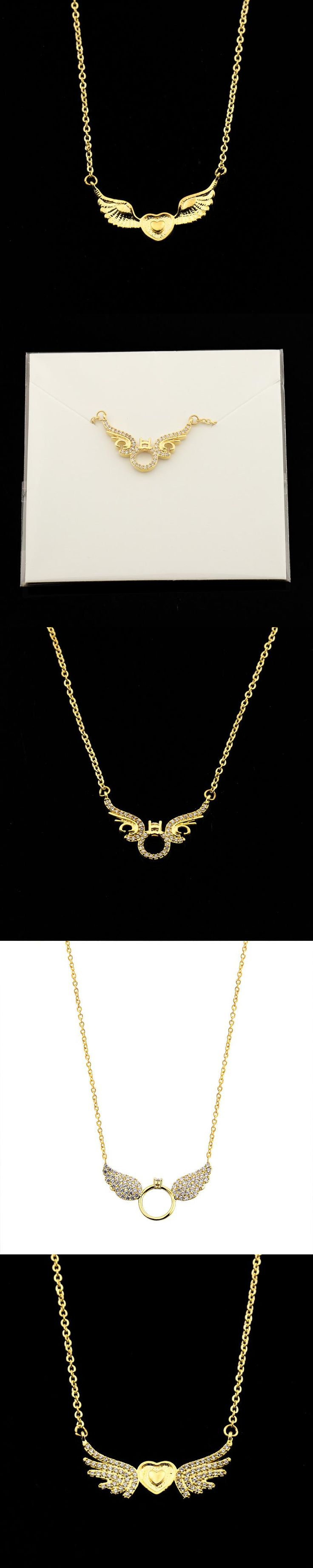 GORGEOUS TALE Rose Gold Angel Wings Necklace Bijoux 2017 Bohemian Chokers Pendant For Women Wedding Jewelry Colar Masculino