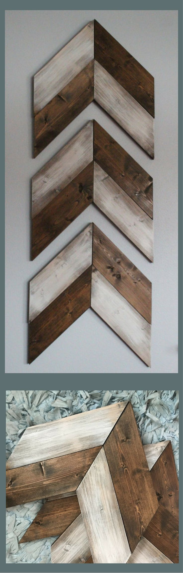 Best 25 rustic gallery wall ideas on pinterest rustic wall i love these two toned wooden chevrons much more eye catching than a single color but not in a flashy way wooden arrows chevron arrows farmhouse decor amipublicfo Images