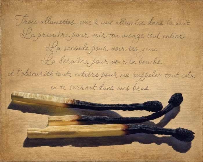 lemiemozioni:  Paris at night (Parigi di notte)Trois allumettes une à une allumées dans la nuitLa première pour voir ton visage tout entierL...