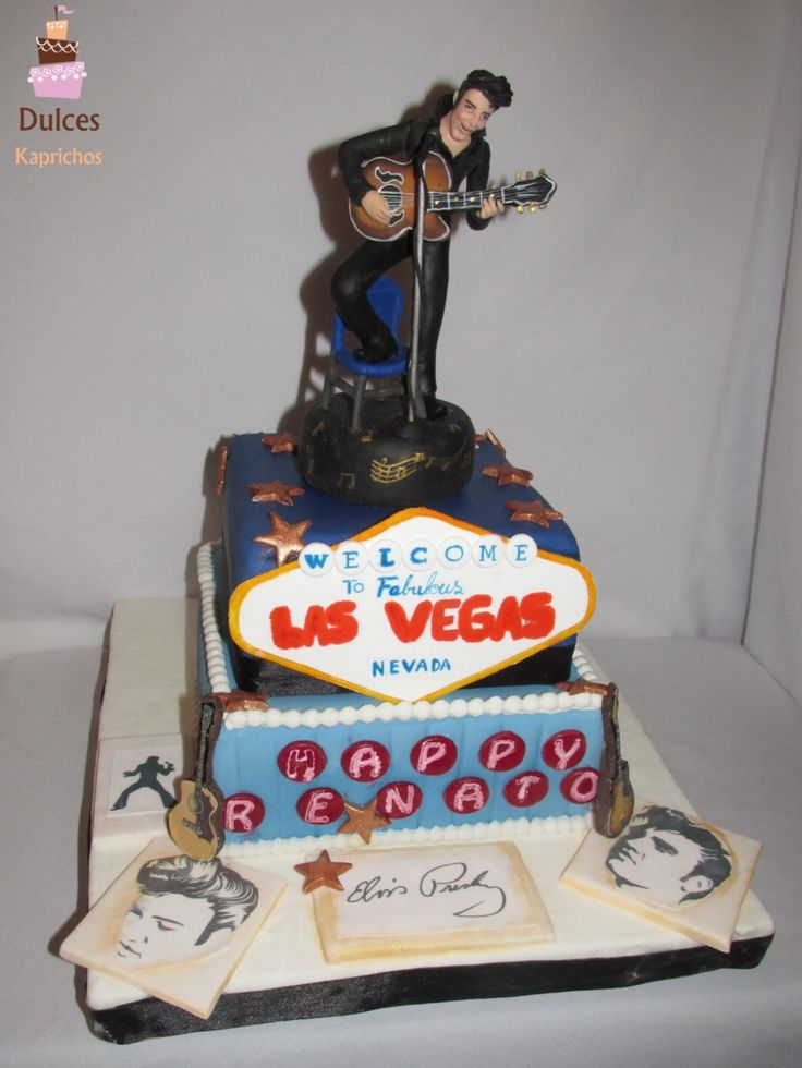 Torta Elvis Presley #TortaElvis #TortaElvisPresley #TortasDecoradas #DulcesKaprichos