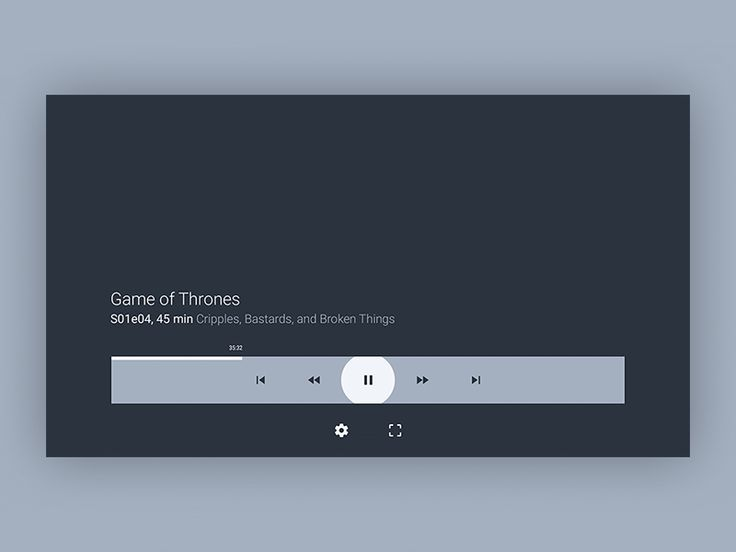 Android tv player settings