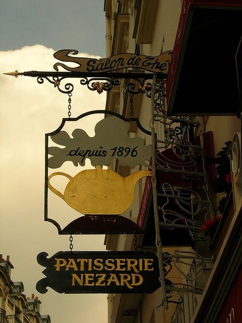 France, Paris - Nezard Paris 3 Rue Notre-Dame-des-Champs - 75006 Paris In France, a tea room is called Salon de thé, and pastries and cakes are also served.