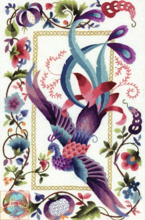 Phoenix Bird Art | Ontario Cross Stitch Embroidery Patterns Supplies Needles Metallic