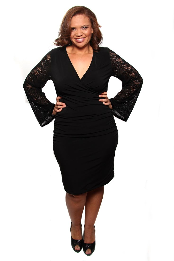 The Classic Kim dress. Evening cocktail dress with lace sleeves for the utmost elegance.  A must-have little black dress. www.captive8.co.za