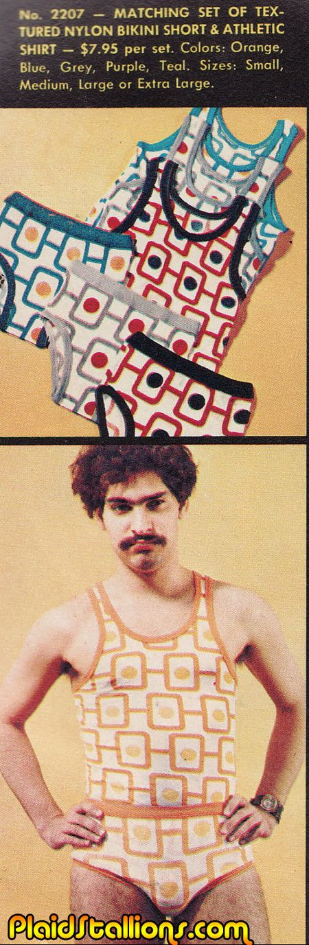 This guy has the creep stare down. | 16 Vintage Underwear Ads That Will Give You Nightmares