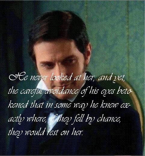 """""""North & South"""" (Elizabeth Gaskell)  I love reading the book because you get to read how much he's smitten with Margaret. <3"""