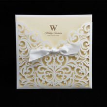 HOT Western-Style Wedding Party Invitation Card Laser Cutting Invitation Card For Wedding Gold Paper Hollow Birthday Invitation(China (Mainland))