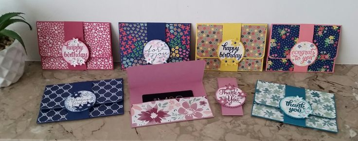 Stampin' Up! Demonstrator stampwithpeg – Craft Fair makes : Gift Card…