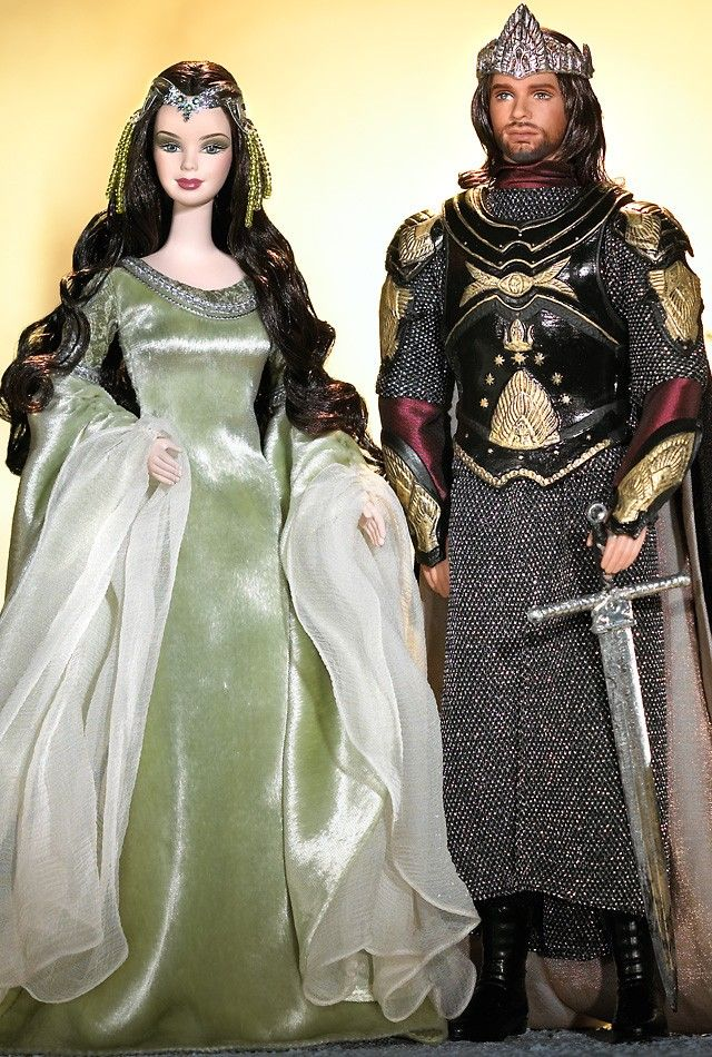 barbie and ken as arwen and aragorn in the lord of the rings barbie collector cosplay. Black Bedroom Furniture Sets. Home Design Ideas