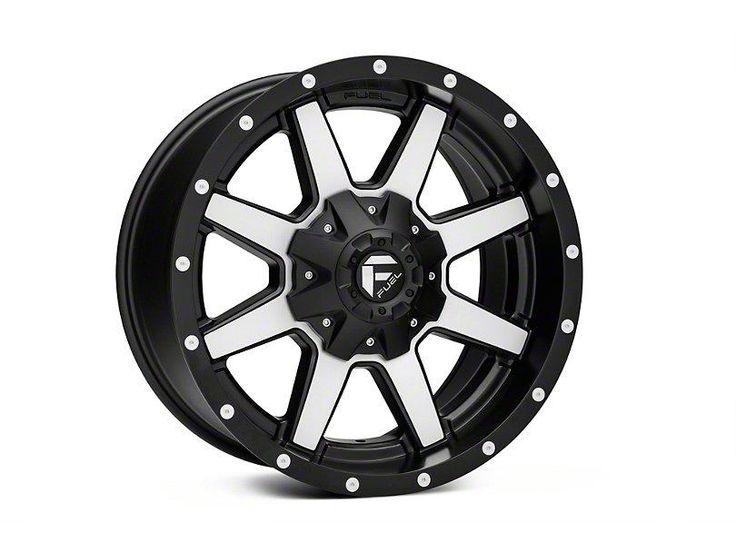 Fuel Wheels Maverick Black Machined 6 Lug Wheel 18x9 04 19 F 150 Black Wheels Chrome Wheels Black