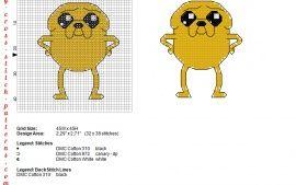 Jake le chien Adventure Time grille point de croix