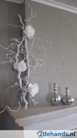 Witte takken, decoratie stammen en naturel