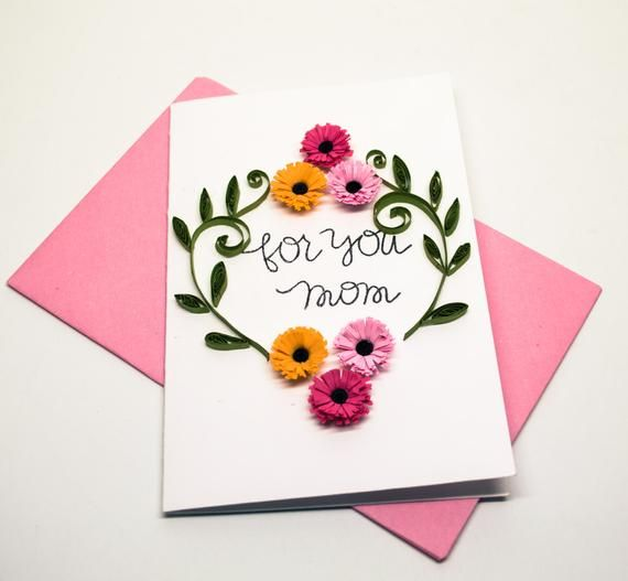 Mother Greeting Card Floral Card For Mom For You Mom Birthday