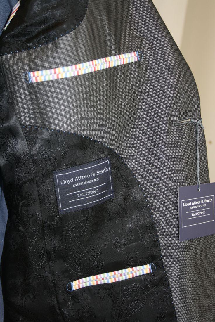 Grey Suit Lining