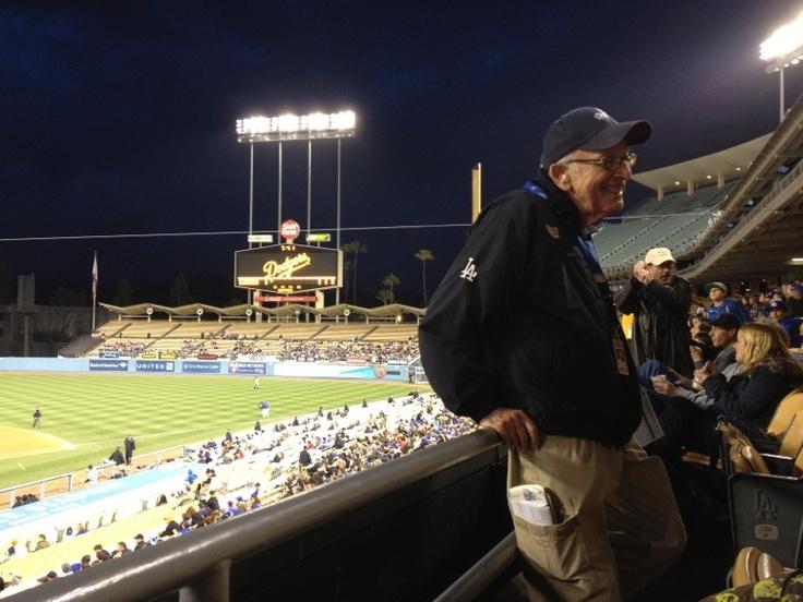 Glad our longtime usher is back at Dodger Stadium.