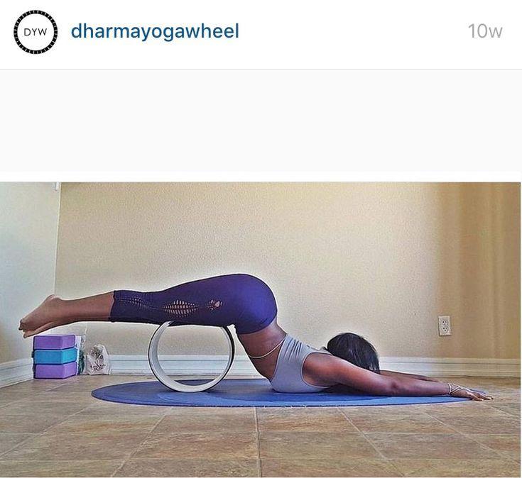 Dharma yoga wheel exercise from @dharmayogawheel
