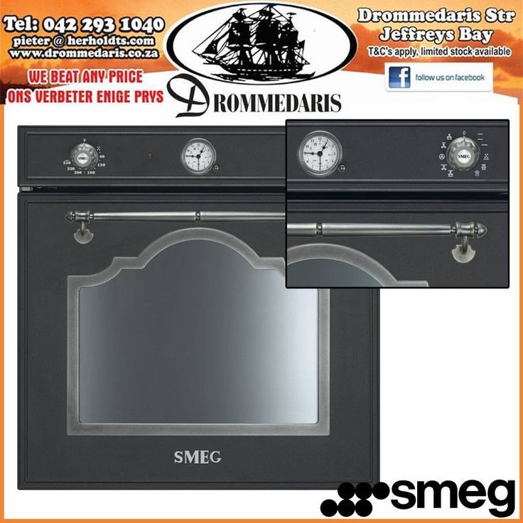 The Smeg Cortina Aesthetic Anthracite Oven, was designed to complement your lifestyle, it has 10 different cooking options and 1 vapour cleaning option. Order from us online at eHome, http://apost.link/E1. #appliances #homeimprovement