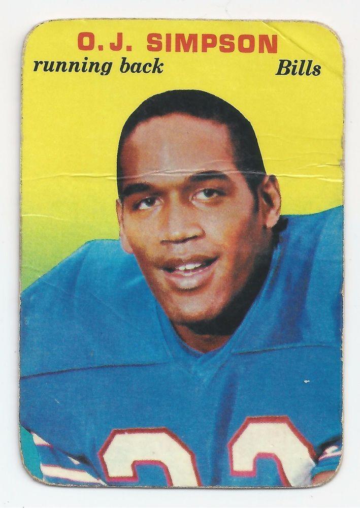 1970 O J Simpson Football Card NFL Hall of Famer #BuffaloBills