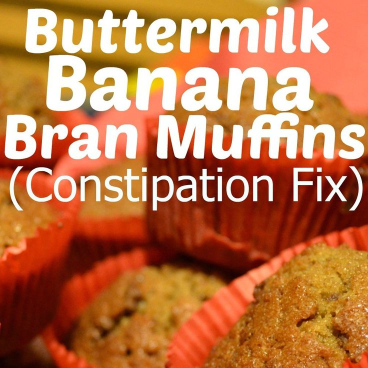 buttermilk banana bran muffins (constipation fix)