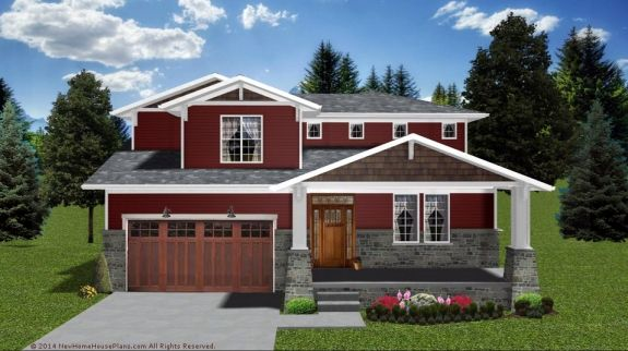 The Crestview house plan features beautiful craftsman curb appeal along with a simple layout and no wasted spaces. The first floor is an all open design from the kitchen to the great room. The second floor plan features comfortable closets for bedrooms two and three and the master suite is loaded with space, huge master closets, and quite spacious master bath. This home plan is only 1,827 square feet.