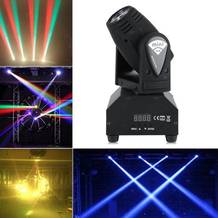 YOSOO Head Moving Stage Light,50W LED RGBW Moving Head Stage Light RGBW DMX512 Rotating Stage Effect Lamp for DJ Disco Club Party Dance Wedding Bar Theater Pub Christmas Lights