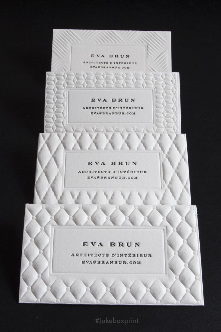The Luxury of Letterpress and 3D Embossing - Exclusively Offered by Jukebox Print